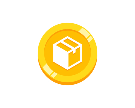 Box Coin Logo Icon Design Illustration