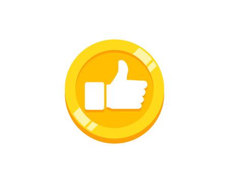 Top munt embleemontwerp pictogram Vector Illustratie