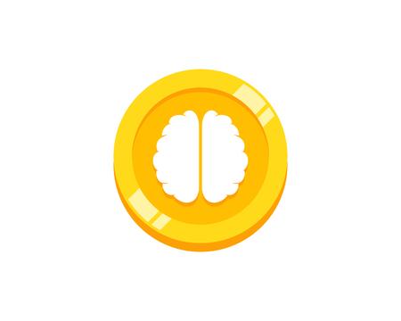 Think Coin Icon Logo Design