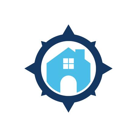 Property Compass Logo Icon Design