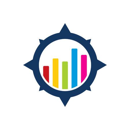 Diagram Compass Logo Icon Design