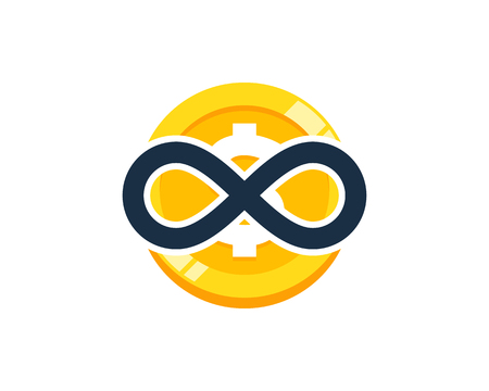 Infinite Coin Icon Design vector illustration. Ilustrace