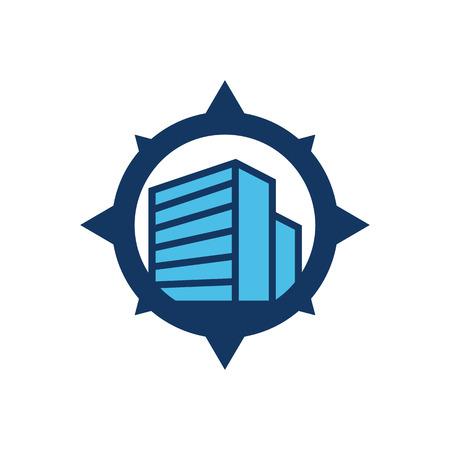 Icona di logo di costruzione di costruzione