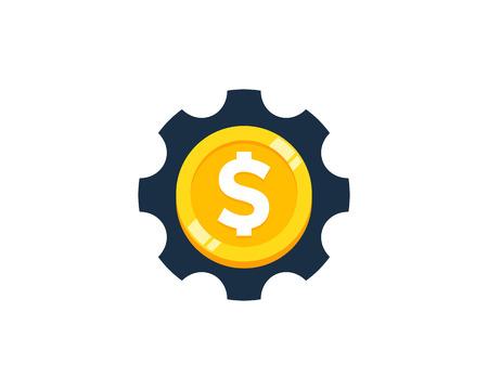 Tool Coin Icon Logo Design