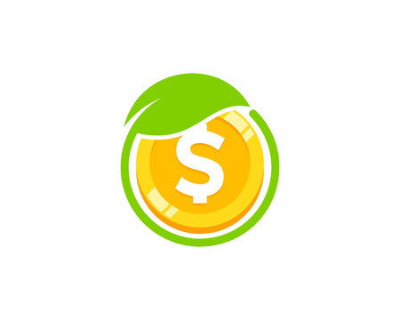 Garden Coin Icon Logo Design