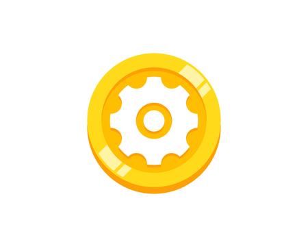 Maintenance Coin Icon Logo Design