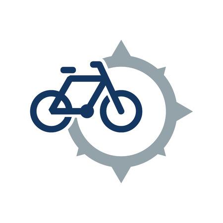 Bike Compass Logo Icon Design