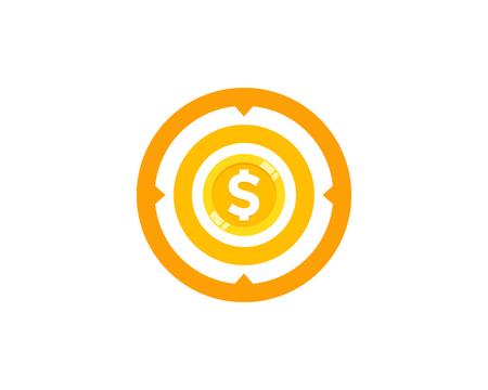 Target Coin Icon Logo Design
