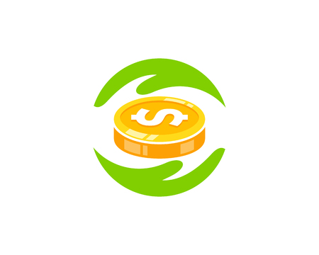 Help Coin Icon Logo Design Stock fotó - 101047088