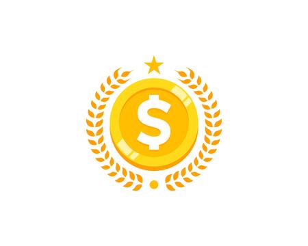 Beer Coin Icon Logo Design