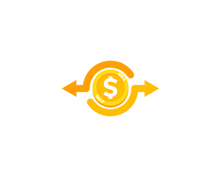Transfer Coin Icon Logo Design