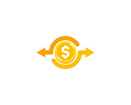 moneda de la moneda icono de diseño de logotipo