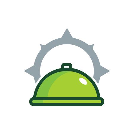 Conception de logo alimentaire compass icône Banque d'images - 101025316