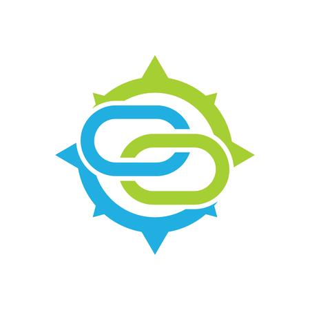 Connect Compass Logo Icon Design