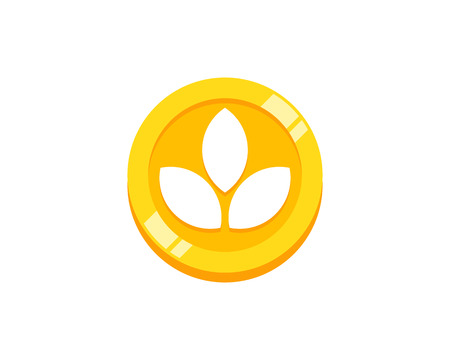 Nature Coin Icon Logo Design Element
