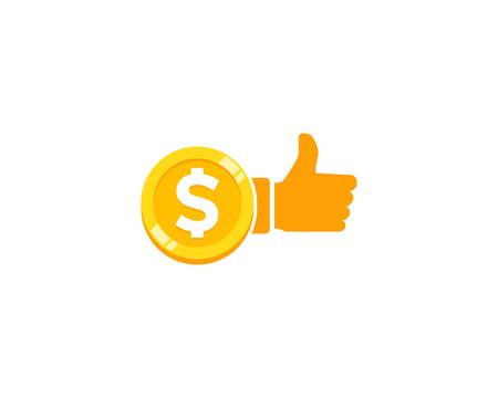 Best Coin Icon Logo Design Element Illustration