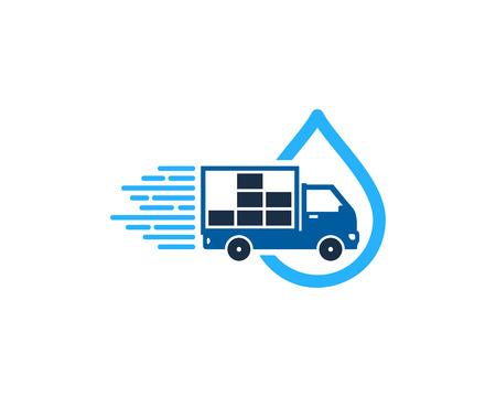 Drop Delivery Logo Icon Design Vettoriali