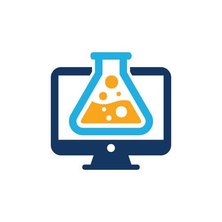 Research Computer Logo Icon Design
