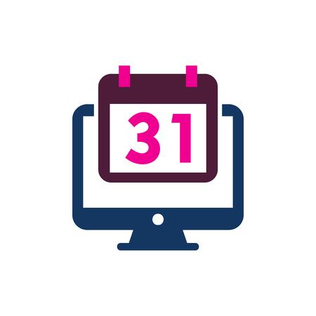 Date Computer Logo Icon Design