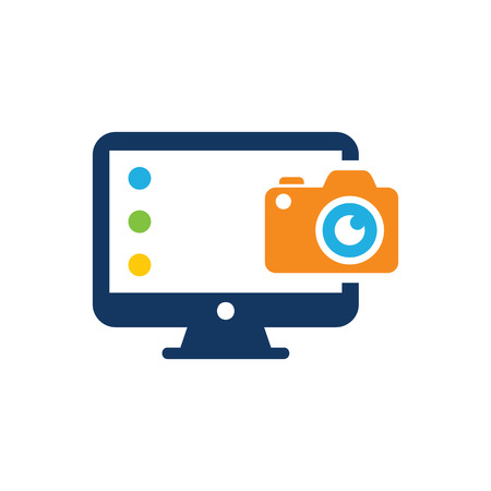 Camera Computer Logo Icon Design Stock Vector - 101062226