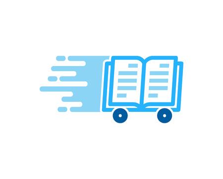 Reading Delivery Logo Icon Design 向量圖像