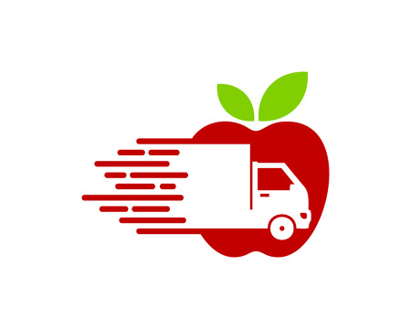 Fruit Delivery Logo Icon Design