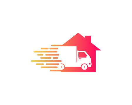 House Delivery Logo Icon Design Illustration