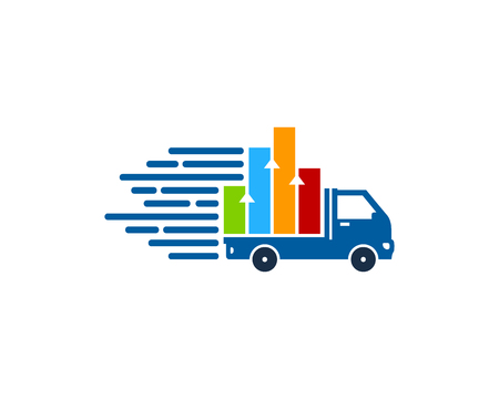Graph Delivery Logo Icon Design