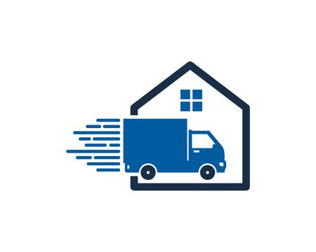 Estate Delivery Logo Icon Design Illustration
