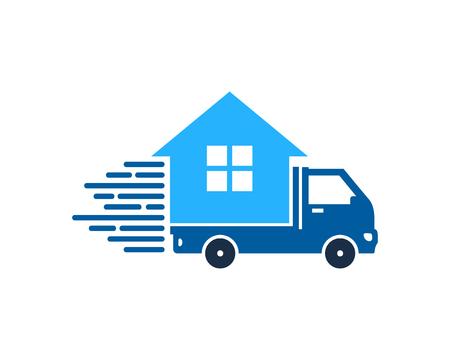 Property Delivery Logo Icon Design Illustration
