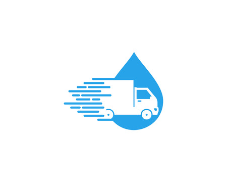Splash Delivery Logo Icon Design Illustration