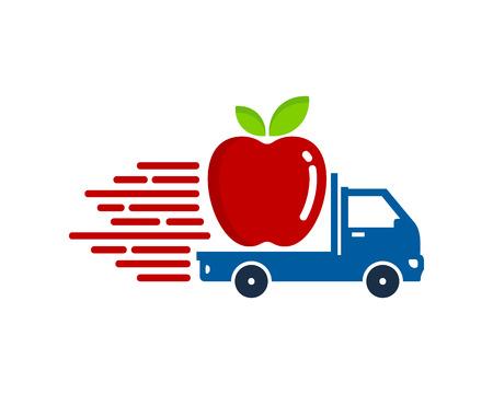 Tropical Delivery Logo Icon Design