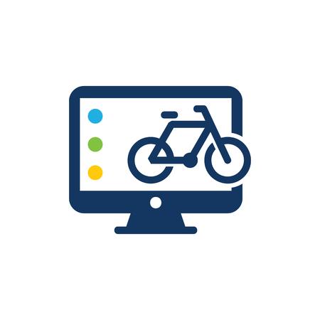 Bike Computer Logo Icon Design