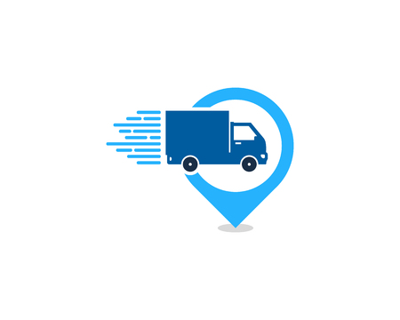 Point Delivery Logo Icon Design Vettoriali