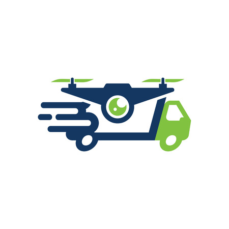 Drone Delivery Logo Icon Design