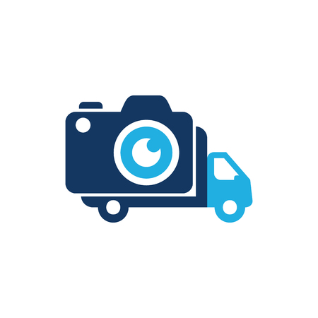 Camera Delivery Logo Icon Design Illustration