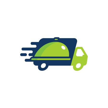 Food Delivery Logo Icon Design Illustration