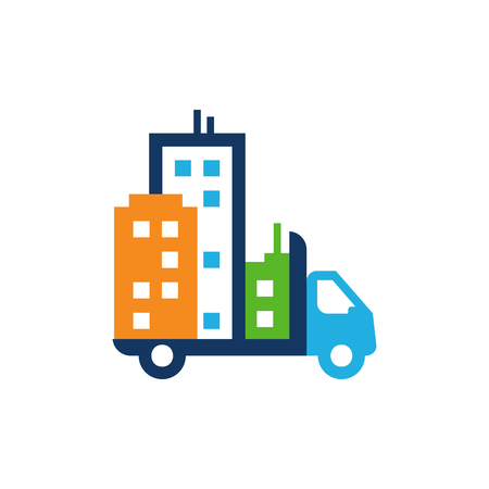 Town Delivery Logo Icon Design