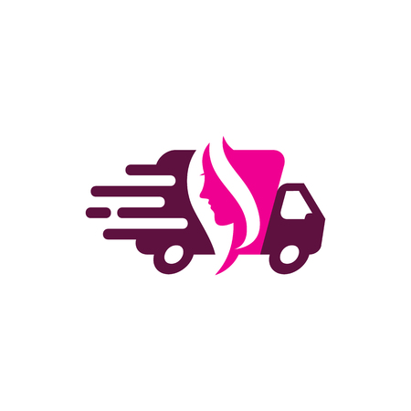Beauty Delivery Logo Icon Design.