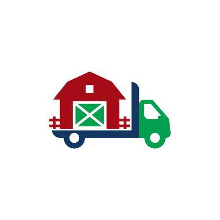 Farm Delivery Logo Icon Design Illustration