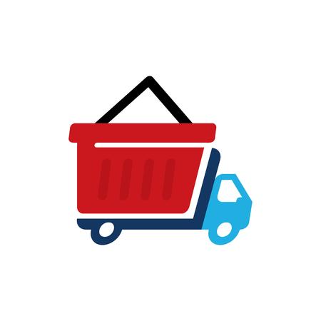 Shop Delivery Logo Icon Design