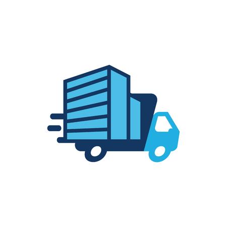 Building Delivery Logo Icon Design Illustration