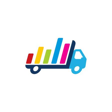 Graph Delivery Logo Icon Design