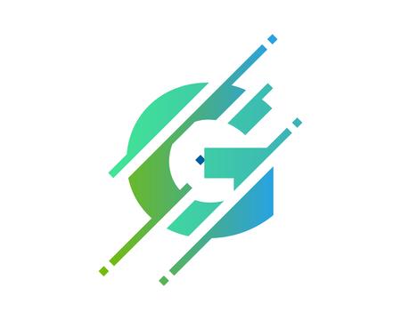 G Digital Letter Pixel Logo Icon Design