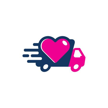 Love Delivery Logo Icon Design Illustration