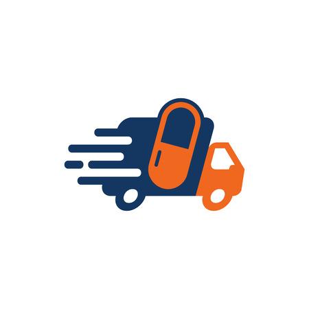 Medicine Delivery Logo Icon Design