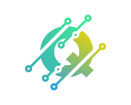 Q Digital Letter Technology Logo Icon Design