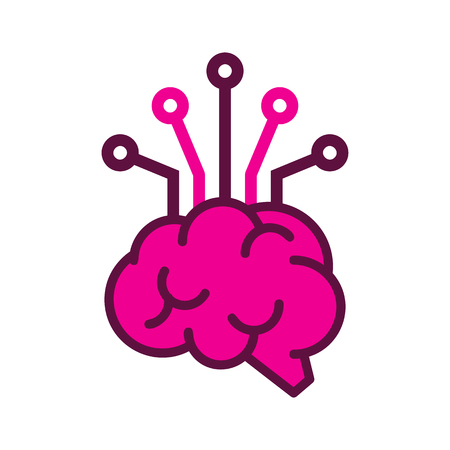 Brain Digital Logo Icon Design Stock Vector - 101069154