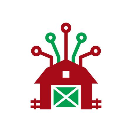 Farm Digital Icon Design illustration on white background.