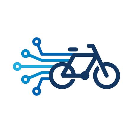 Bike Digital Icon Design illustration on white background.